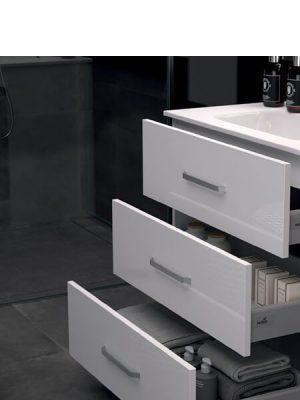 Mueble de baño a suelo 3 cajones Fuji blanco