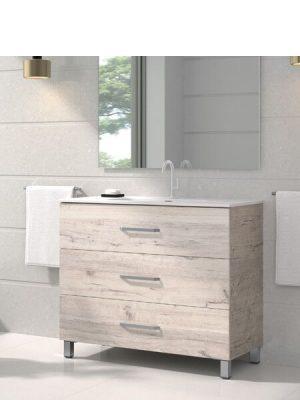 Mueble de baño a suelo 3 cajones Fuji Decape
