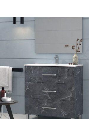 Mueble de baño a suelo 3 cajones Fuji Marquina