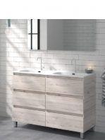 Mueble de baño a suelo 60 cm 3 cajones Orosi decape