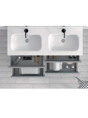 Mueble de baño suspendido 2 cajones Etna
