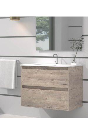 Mueble de baño suspendido 2 cajones Etna Nature