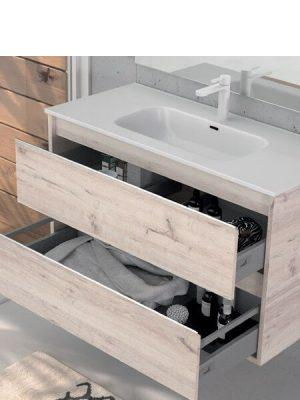 Mueble de baño suspendido 2 cajones Nasu decape