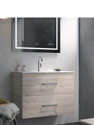 Mueble de baño suspendido 2 cajones Teide decape