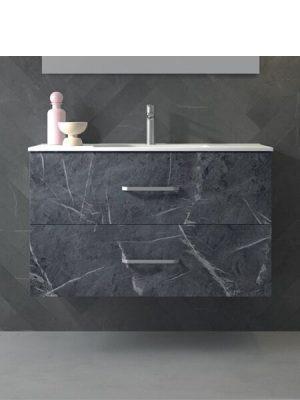 Mueble de baño suspendido 2 cajones Teide marquina