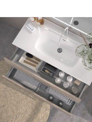 Mueble de baño suspendido 2 cajones Teide nature