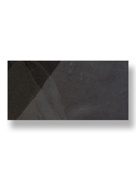 Piedra natural pizarra Negra 30 x 60 cm (0.18 m2/cj)