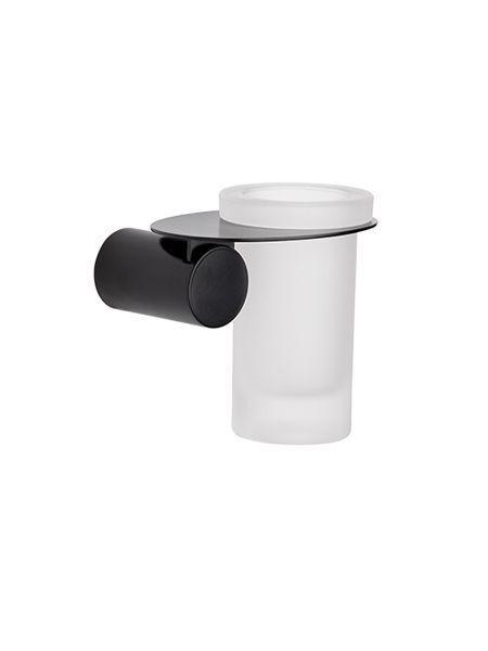 Porta vaso a pared Negro serie Zaragoza- Accesorio de baño