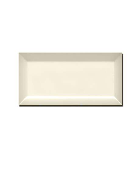 Azulejo tipo metro biselado almond brillo 10X20 cm (1 m2/cj)