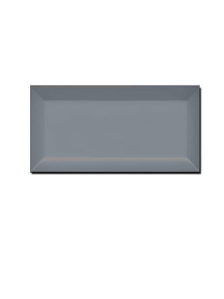 Azulejo tipo metro biselado blue mist brillo 10X20 cm (1 m2/cj)