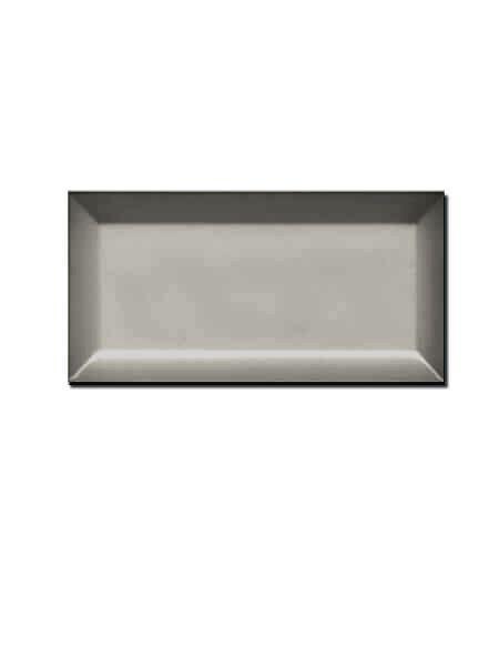 Azulejo tipo metro biselado dark grey 10X20 cm (1 m2/cj)