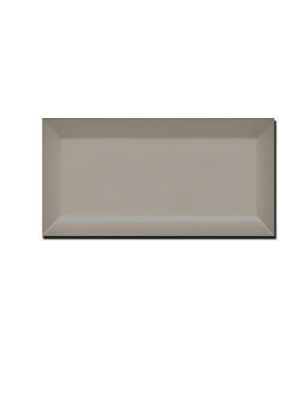 Azulejo tipo metro biselado fawn 10X20 cm (1 m2/cj)