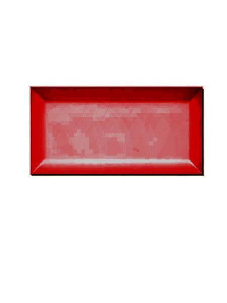 Azulejo tipo metro biselado fuego mate 10X20 cm (1 m2/cj)