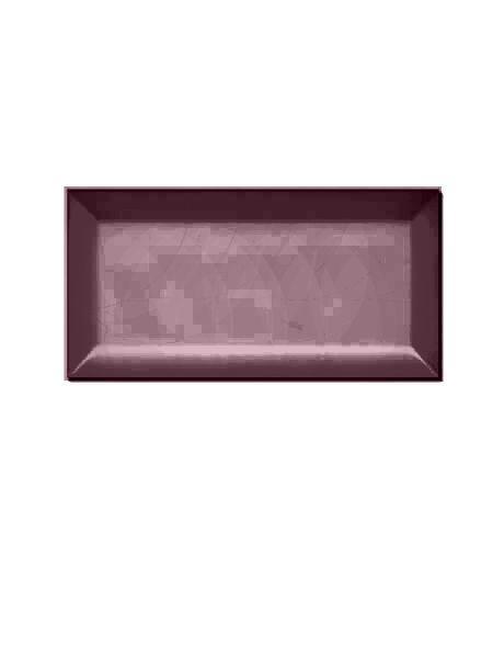 Azulejo tipo metro biselado granate mate 10X20 cm (1 m2/cj)