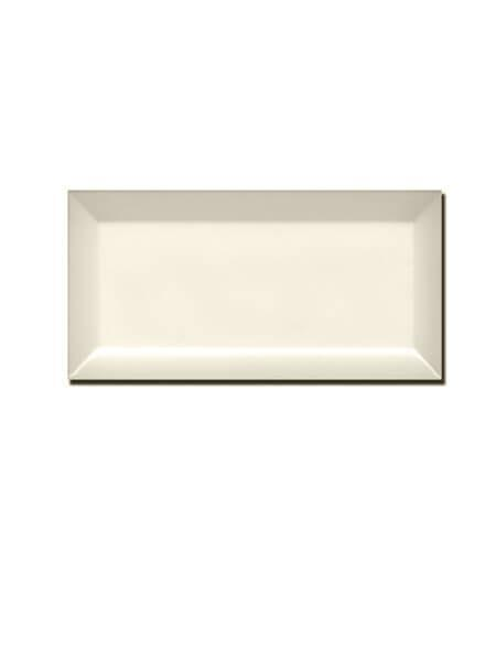Azulejo tipo metro biselado hueso mate 10X20 cm (1 m2/cj)