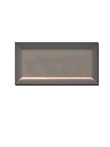 Azulejo tipo metro biselado metalizado brillo 10X20cm.