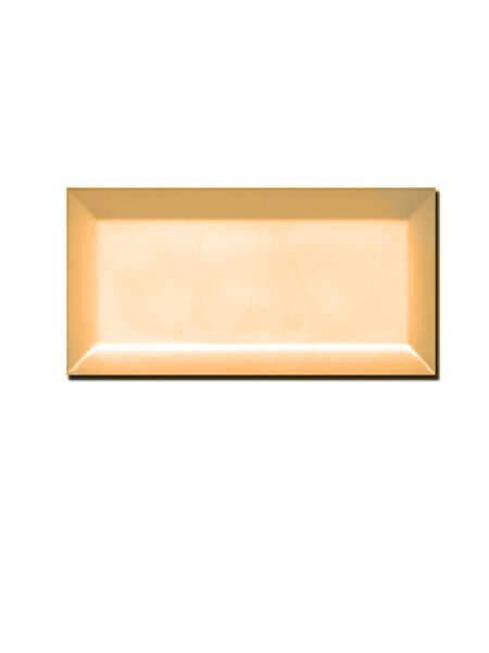 Azulejo tipo metro biselado mostaza mate 10X20 cm (1 m2/cj)