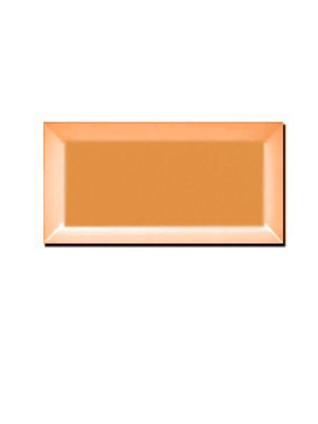 Azulejo tipo metro biselado naranja mate 10X20 cm (1 m2/cj)