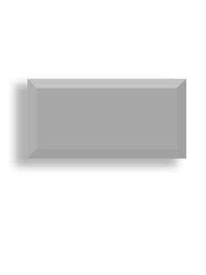 Azulejo tipo metro biselado perla brillo 10X20 cm.