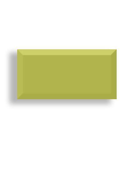 Azulejo tipo metro biselado pistacho mate 10X20 cm (1 m2/cj)