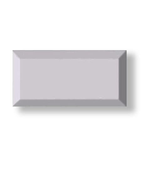 Azulejo tipo metro biselado plata mate 10X20 cm (1 m2/cj)