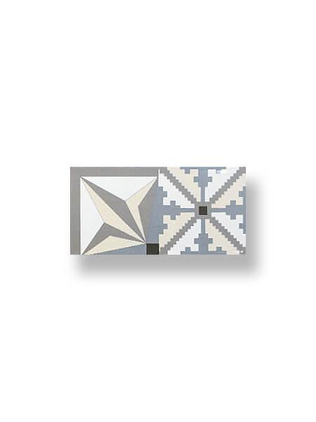 Revestimiento tipo metro Millenium plata mix 10x20 cm (1 m2/cj)