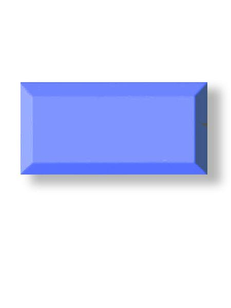 Azulejo tipo metro biselado zafiro mate 10X20 cm (1 m2/cj)