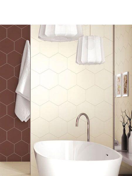 Pavimento hexagonal porcelánico Opal crema 28.5 x 33 cm (1 m2/cj)