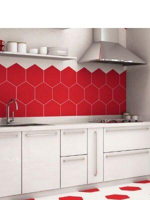 Pavimento hexagonal porcelánico Opal 28.5 x 33 cm.