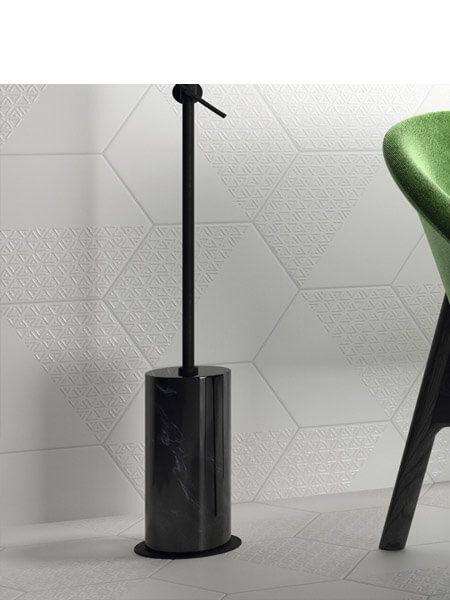 Pavimento hexagonal porcelánico Opal deco grey 28.5 x 33 cm (1 m2/cj)