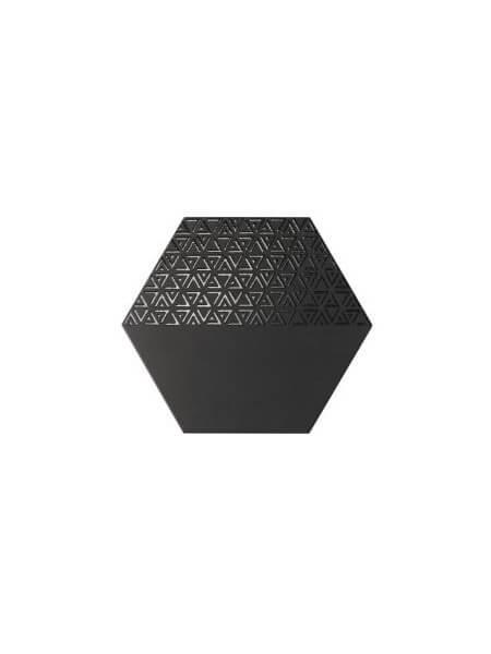 Pavimento hexagonal porcelánico Opal deco black 28.5 x 33 cm (1 m2/cj)