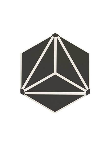 Pavimento hexagonal porcelánico Osaka Black 28.5 x 33 cm (1 m2/cj)