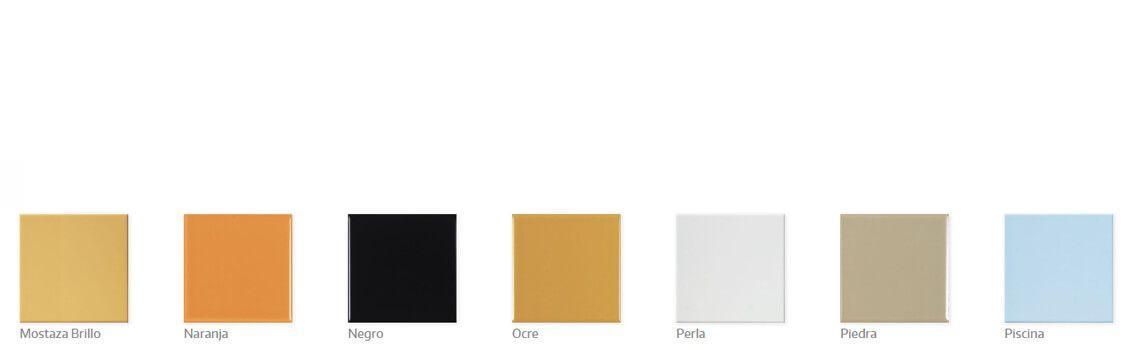 Colores lisos azulejos pequeño formato Adrihosan