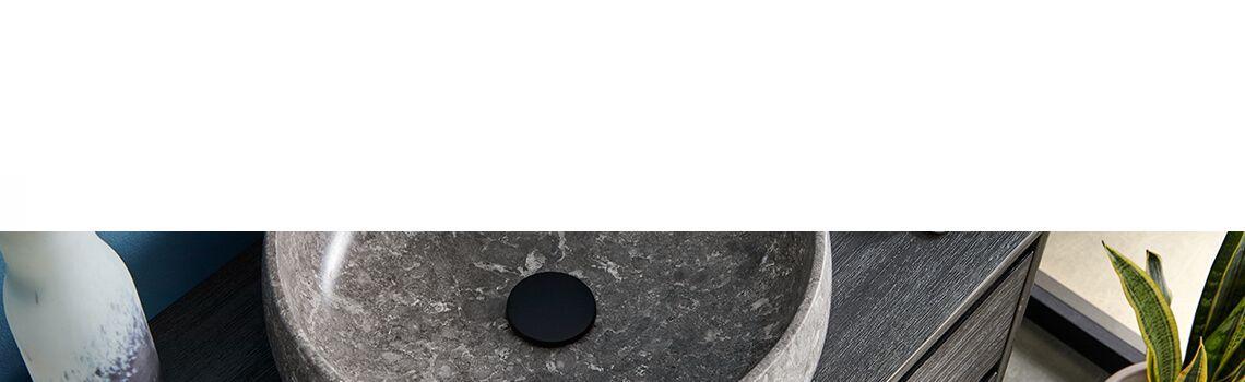 Lavabo mármol gris redondo Amapola 42 x 42 x 15 cm