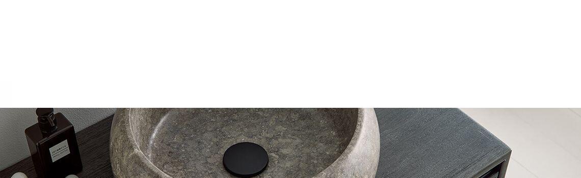 Lavabo mármol gris redondo Rosa 42 x 42 x 15 cm