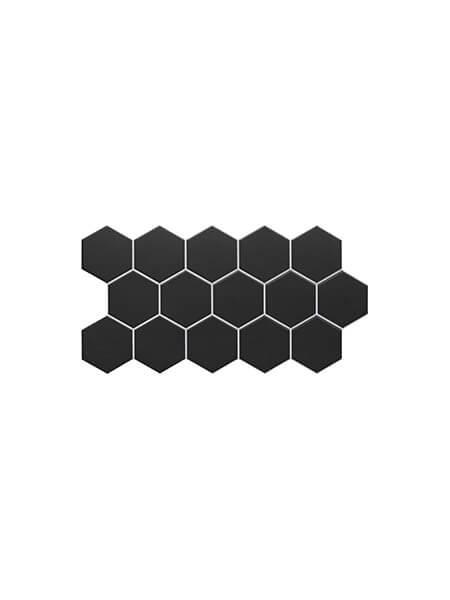 Pavimento hexagonal porcelánico Black 26,5 x 51 cm (0.95 m2/cj