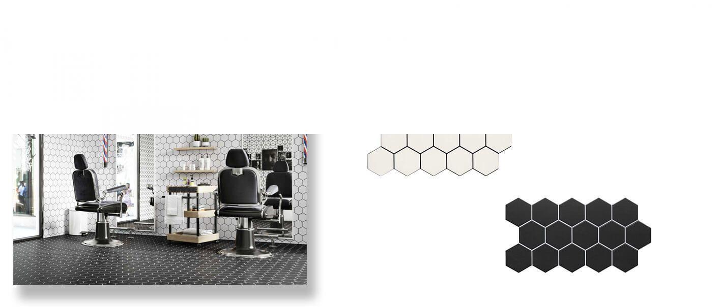 Pavimento hexagonal porcelánico Snow 26,5 x 51 cm.
