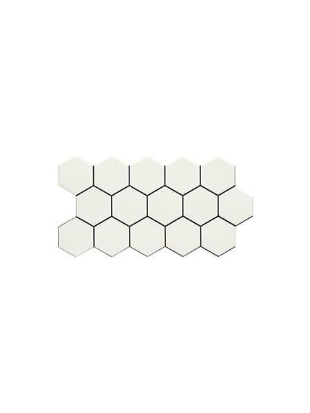 Pavimento hexagonal porcelánico Snow 26,5 x 51 cm (0.95 m2/cj)