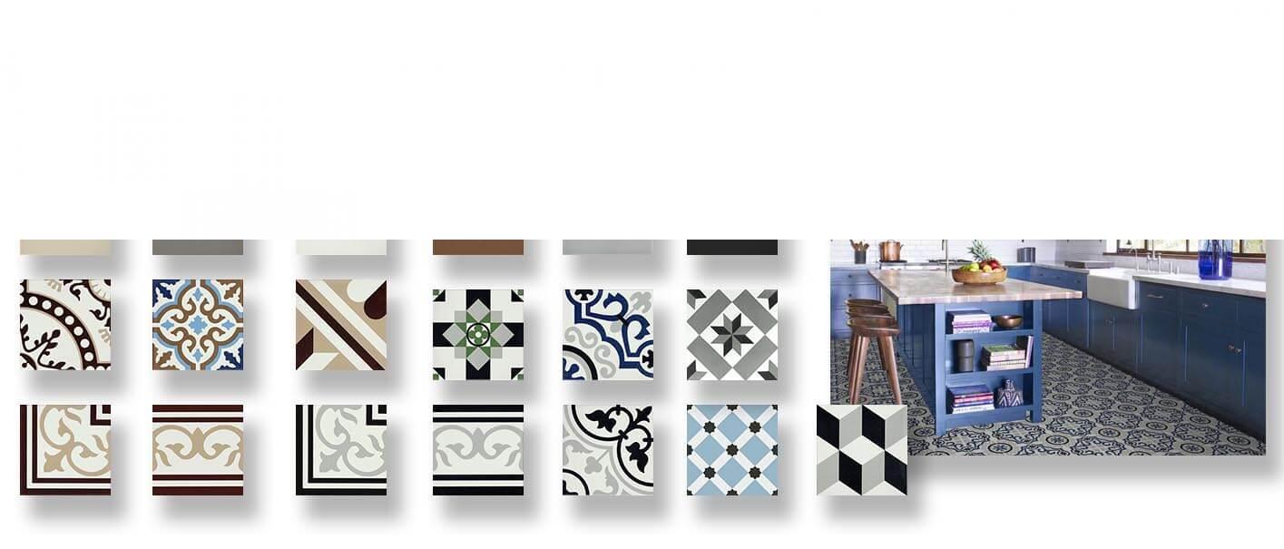 Pavimento porcelánico hidráulico Laverton 24x24 cm.