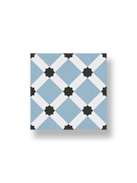 Pavimento porcelánico hidráulico Laverton Palau celeste 24x24 cm (1,04 m2/cj)