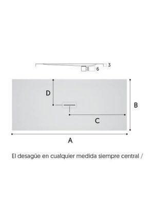 Plato de ducha Corian Andrómeda blanco Antideslizante C3.