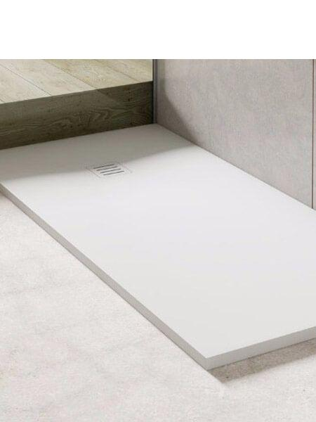 Plato de ducha Corian Napoles blanco Antideslizante C3