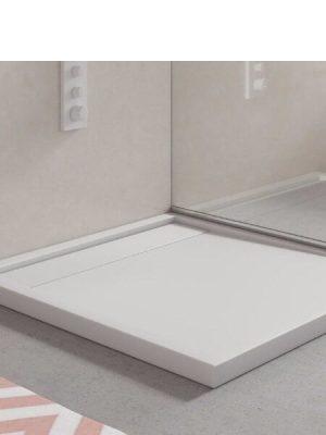 Plato de ducha Corian Rimini blanco Antideslizante C3.