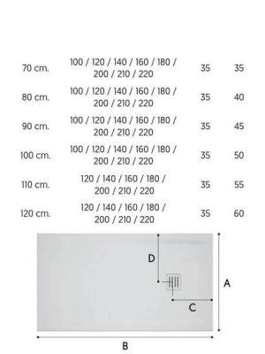 Plato de ducha Corian Sicilia blanco Antideslizante C3.