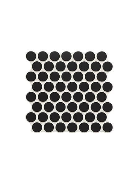 Revestimiento porcelánico Circle black 30,9 x 30,9 cm (0.86 m2/cj)