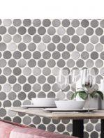 Revestimiento porcelánico Circle grey brillo 30,9 x 30,9 cm