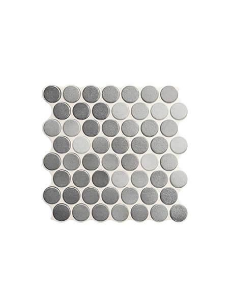 Revestimiento porcelánico Circle grey brillo 30,9 x 30,9 cm (0.86 m2/cj)