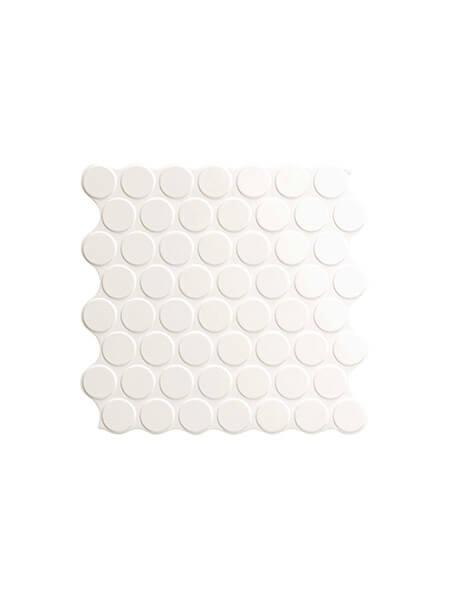 Revestimiento porcelánico Circle white brillo 30,9 x 30,9 cm (0.86 m2/cj)