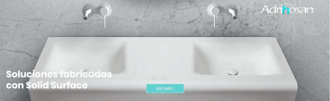 Soluciones para el cuarto de baño fabricadas con Solid Surface