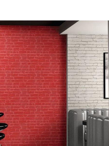 Azulejo porcelánico imitación ladrillo caravista Manhattan Rojo 31x56 cm (1.21 m2/cj)